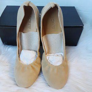 J crew ballet leather flat size 9.5M